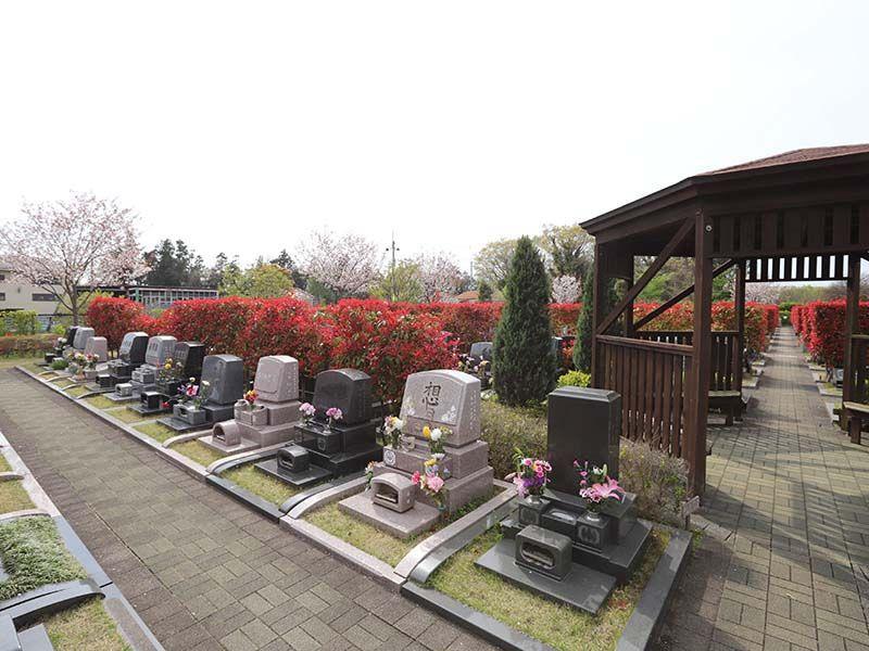 アドミール座間 ゆったりとしたスペースを持つ墓域