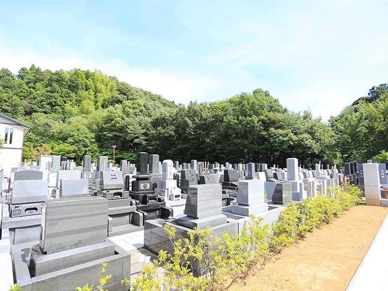 鎌倉湖墓苑二期 日当たりが良く明るい墓域②