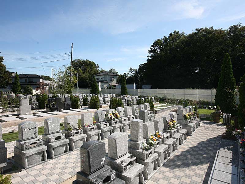 染谷の里 大宮四季彩霊苑 緑に囲まれた墓所