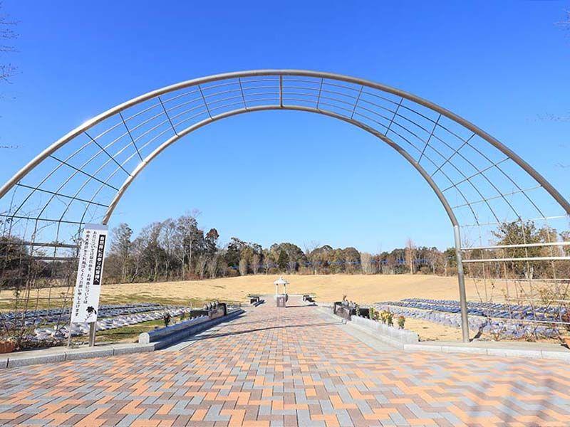 森のお墓 弥生の里・自然聖園 開放感のある墓域「自然葬」