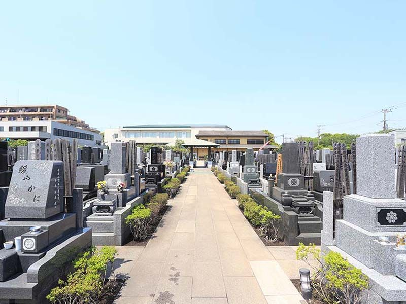 大師の杜墓苑 区画整理された墓域
