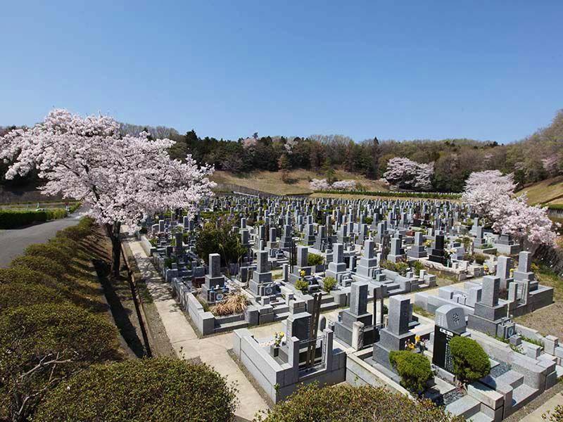 地産霊園 日当たりのよい墓域