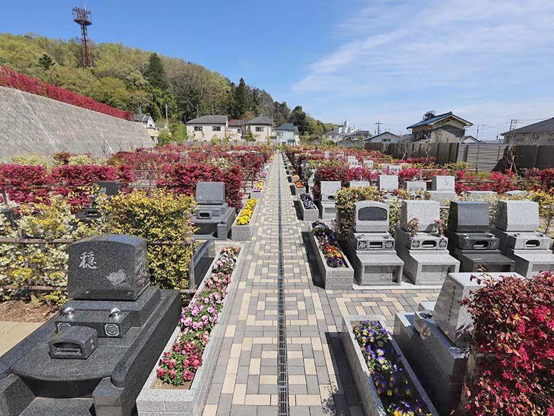 たきやま台墓苑 霊園を横断するメイン参道