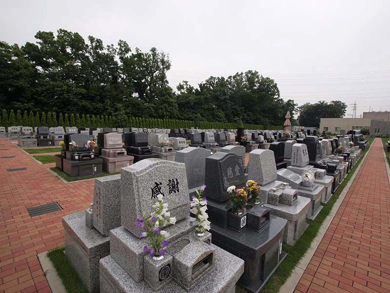 南川越霊園 洋型墓石