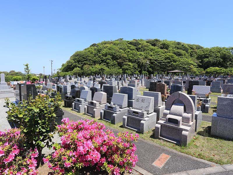 三浦霊園 花や緑が豊かな墓域