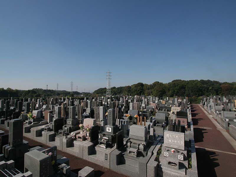 メモリアルヒルズ湘南 区画整理された墓域