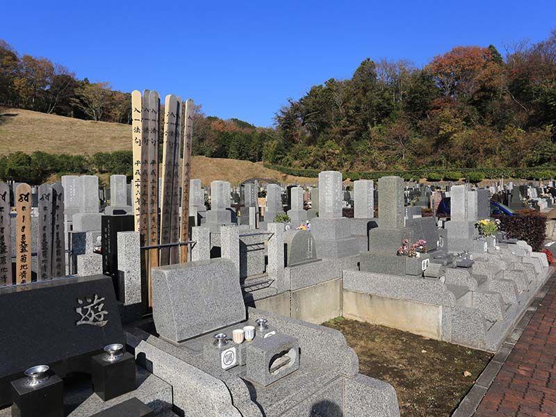 厚木森の里霊園 緑に囲まれた墓域