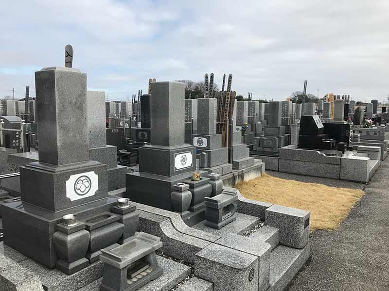 東武やすらぎの里 区画整理された墓域