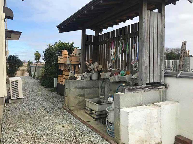 東武やすらぎの里 参拝・掃除用具置き場