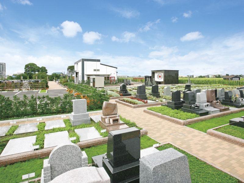 吉川美南霊園 テラス区画の風景