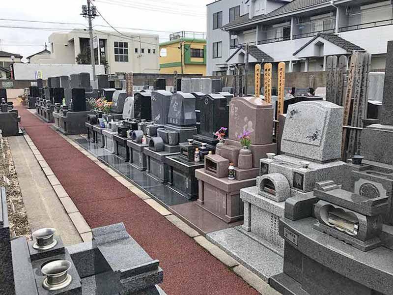 みずほ霊園 区画整理された墓域