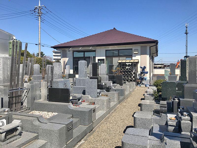越谷中央霊園 区画整備された墓域