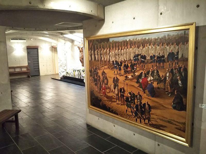 東京カテドラル納骨堂 高輪分室(クリプト高輪) 納骨堂内の絵画