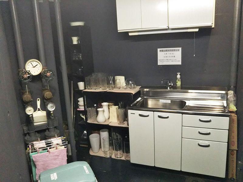 東京カテドラル納骨堂 高輪分室(クリプト高輪) 道具のそろった水汲み場