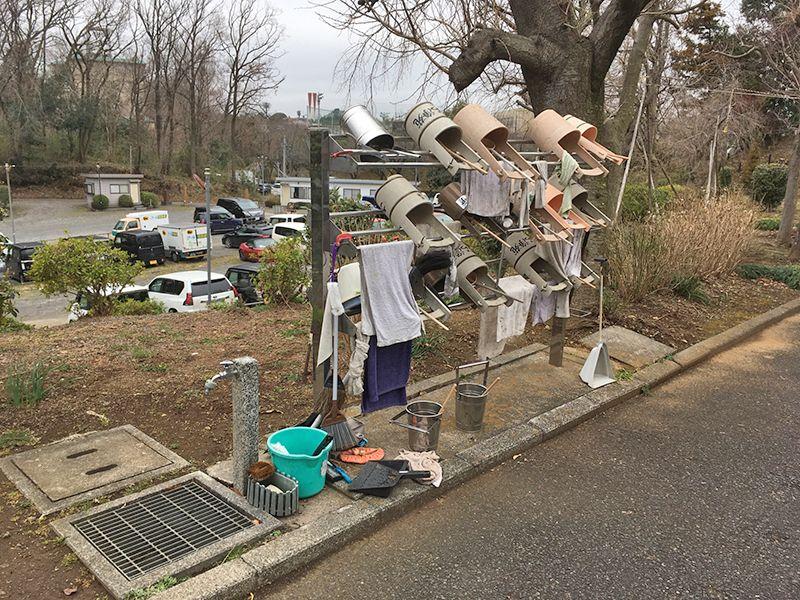 多摩さくら浄苑 充実した水汲み道具