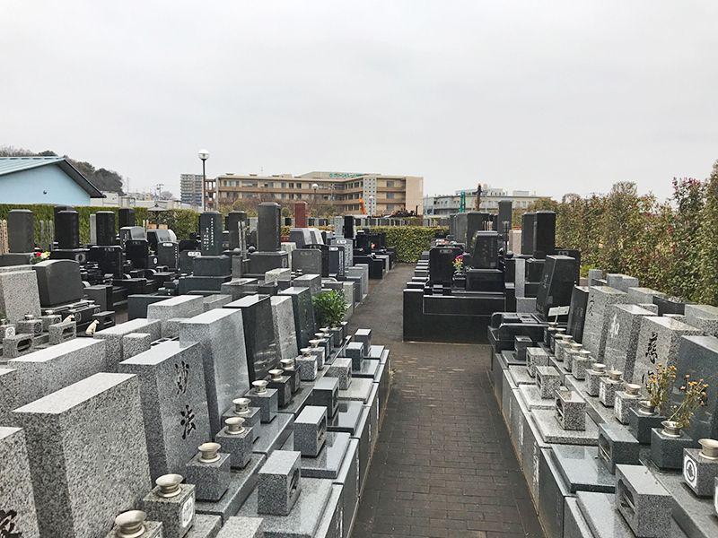 朝霞聖地霊園 一般墓所の和型・洋型墓石