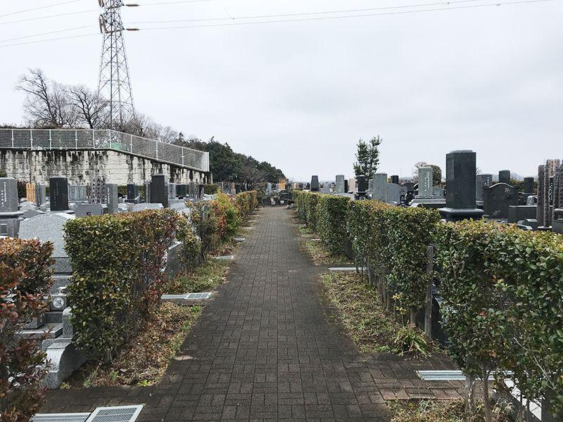 新座墓苑 一般区画の風景