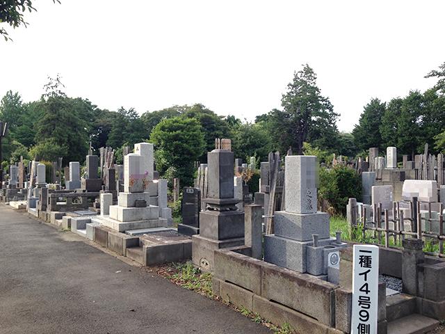 都立 染井霊園 木々に囲まれた墓域
