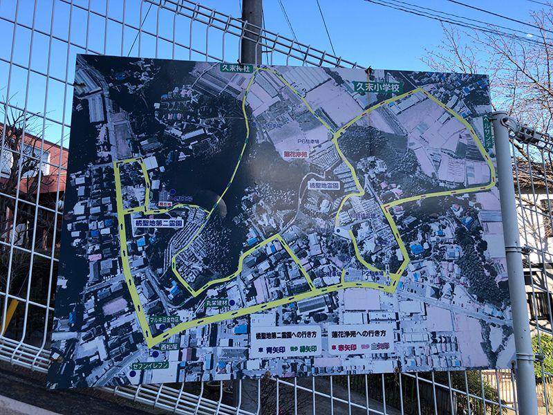 橘聖地第二霊園 案内地図