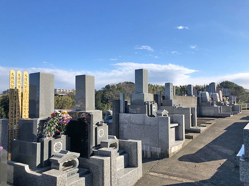 橘聖地第二霊園 見晴らしの良い墓域