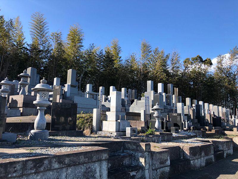橘聖地第二霊園 高台にり日当たりが良い墓域