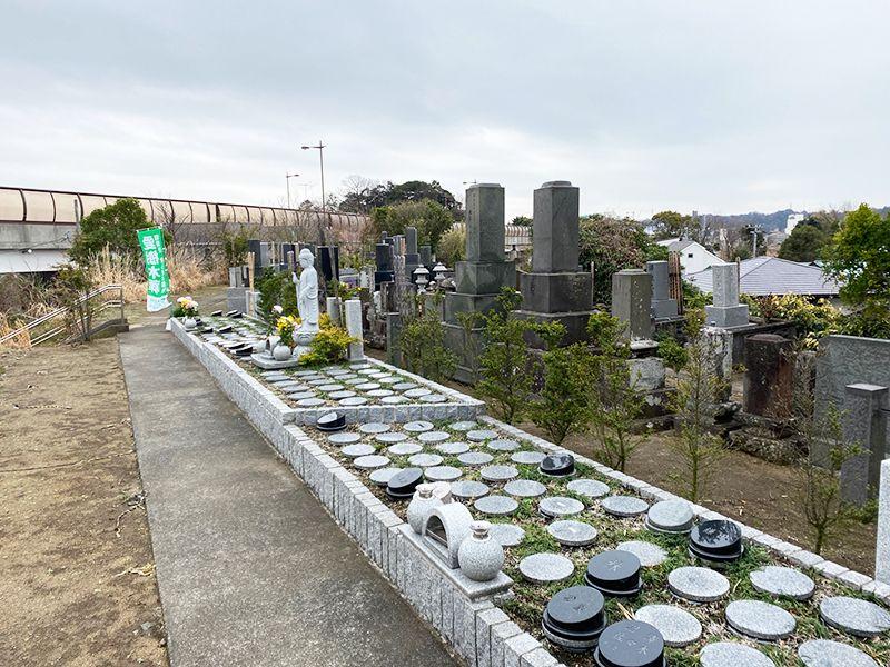 藤沢樹木葬墓地 拓けた墓地内