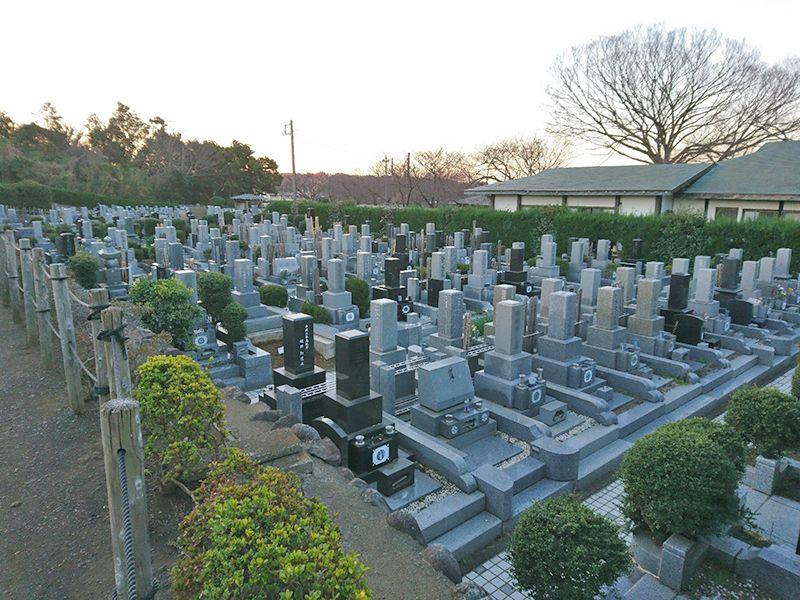 茅ヶ崎公園墓地 区画整備された墓域