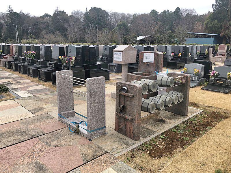 八千代悠久の郷霊園 永代供養墓 水汲み場と参拝道具