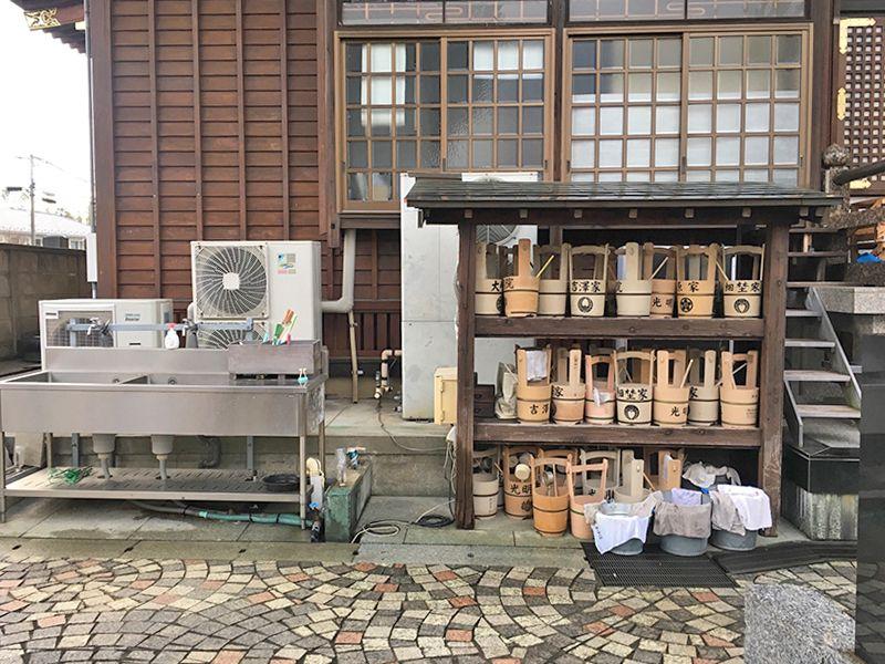 稲荷山 光明院 水汲み場と参拝道具