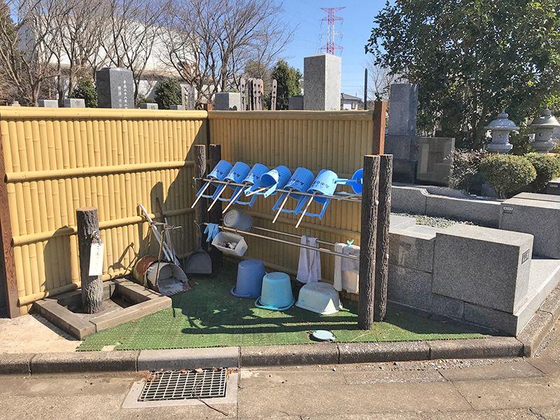 八千代島田台霊園 お墓掃除に利用できる水場