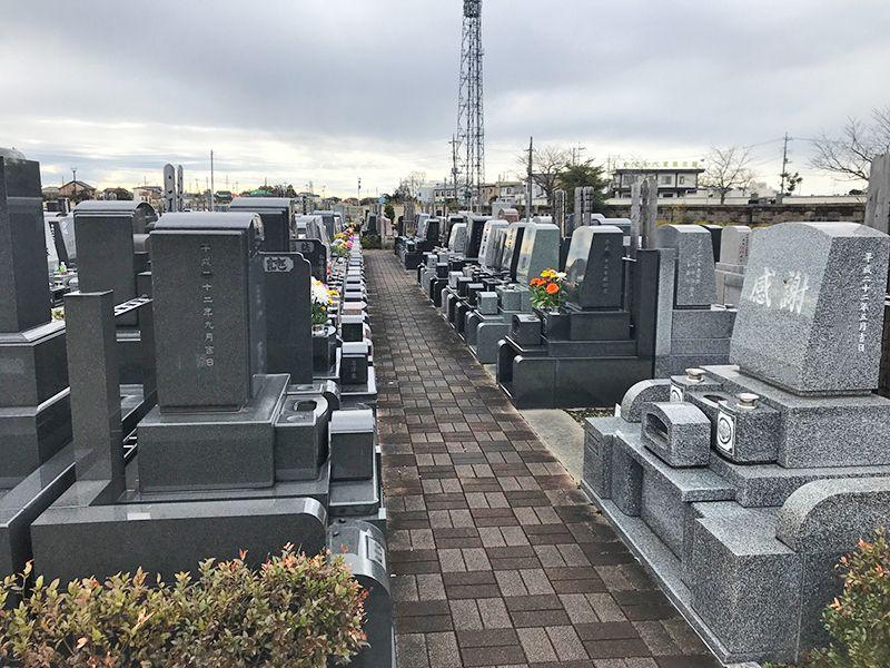 グリーンパーク春日部浄園 第2期 区画整備された墓域