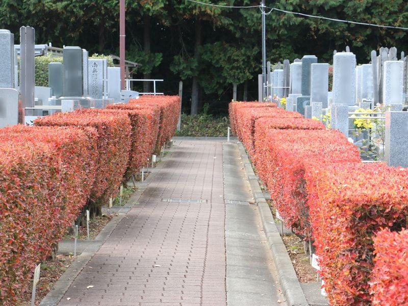 所沢狭山ヶ丘霊園 バリアフリー設計の平坦な墓域