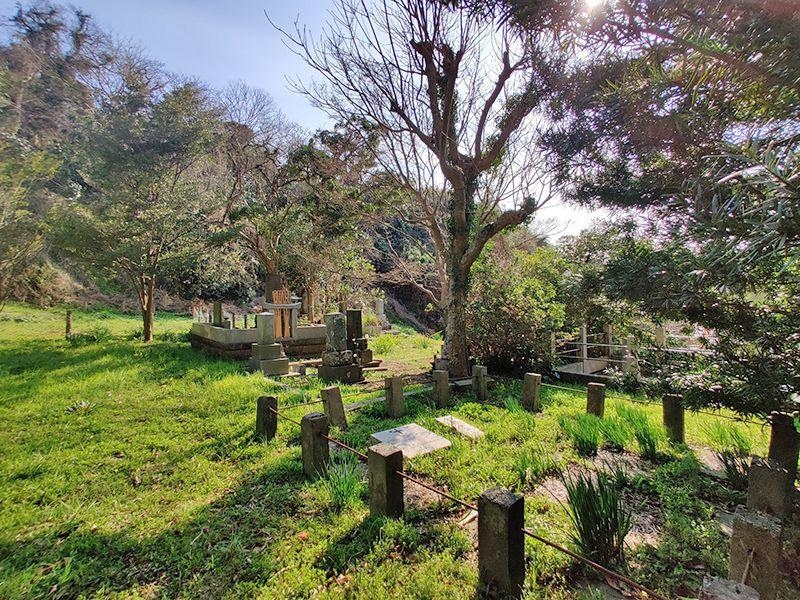 佐助共同墓地 自然の中に建立された墓石