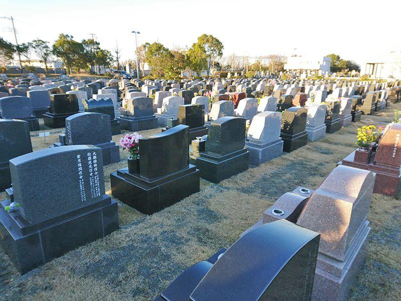湘南公園墓地 茅ヶ崎第二霊園 洋型墓石