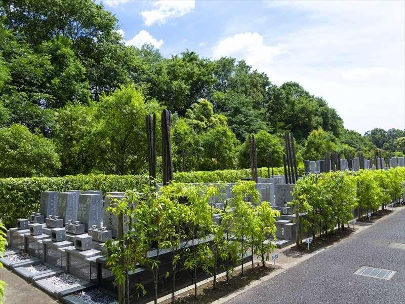 船橋森林霊園 緑に囲まれた墓域