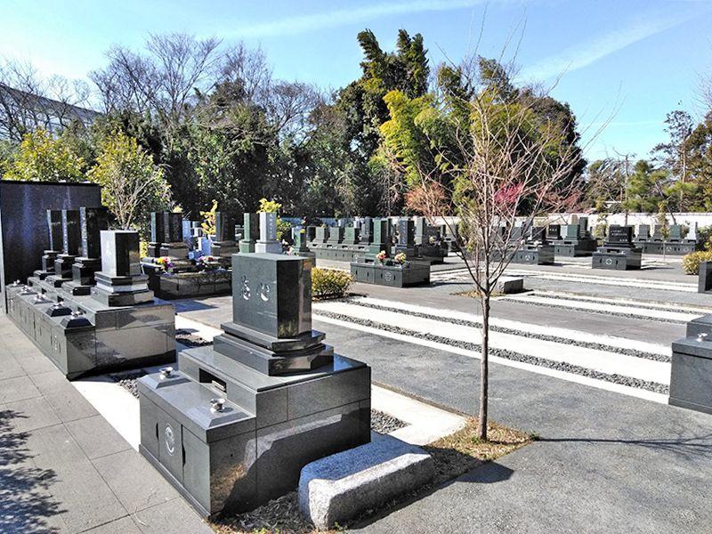 川口草加霊園 はじまりの杜 区画整理された一般墓所