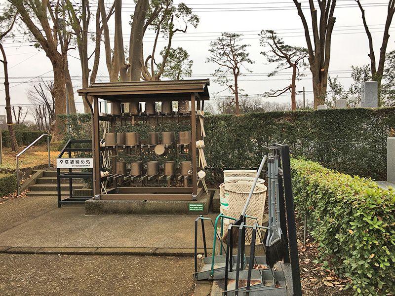 所沢中央霊園 参拝・掃除用具置き場