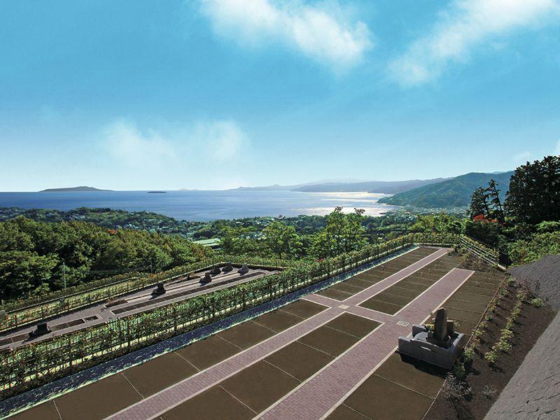 空と海 新・吉祥公園墓地 高台から一望できる相模湾