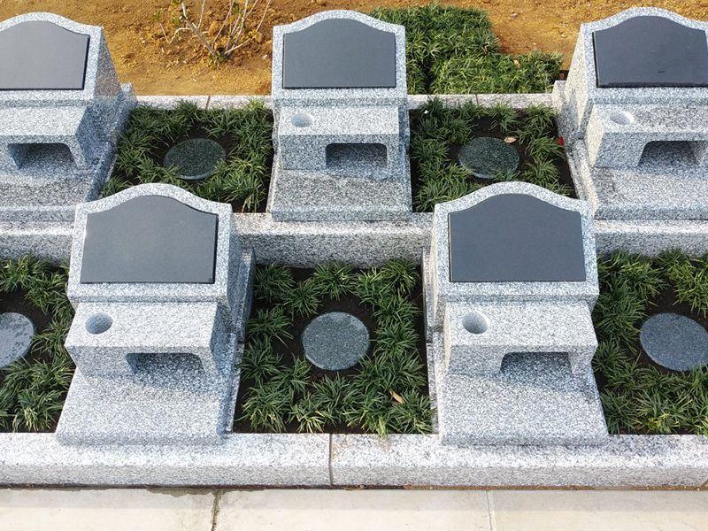 空と海 新・吉祥公園墓地 区画整理された「ペアーライフ」