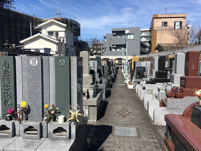 板橋向原浄苑 都会にある墓所の風景