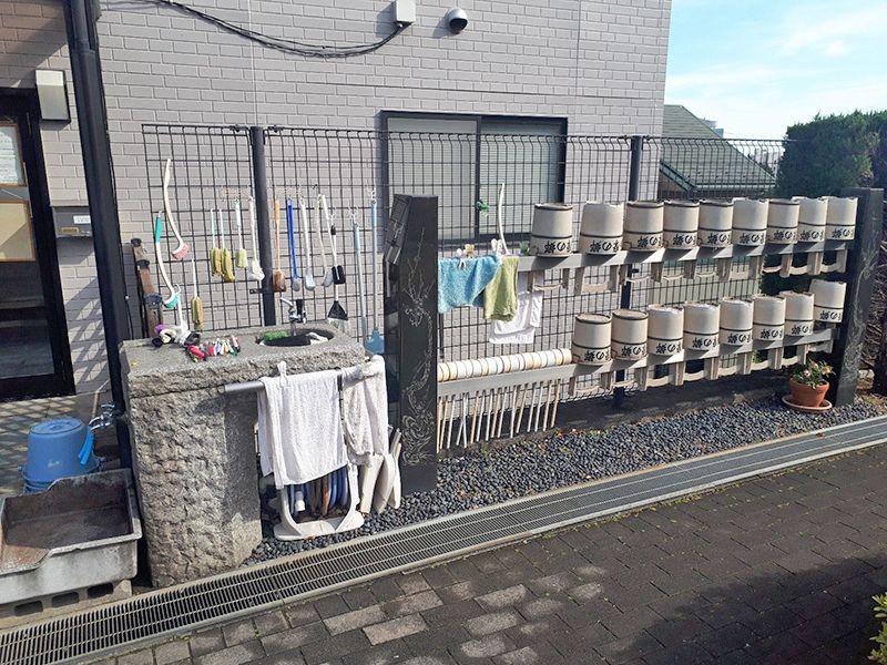 多摩の郷 管理の行き届いた水汲み場