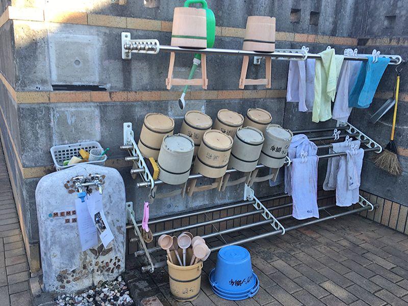 メモリアルガーデン調布 永代供養墓「悠久の丘」 清潔感のある水汲み場
