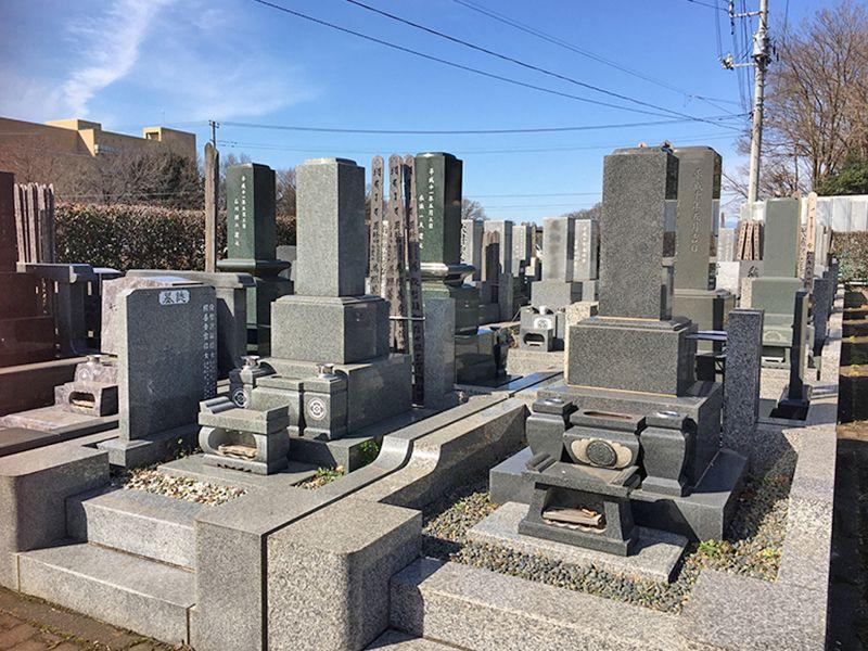 所沢欅聖地霊園 区画整理された墓域