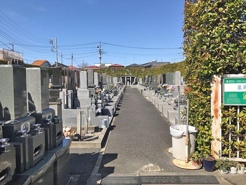 草加聖地霊園 区画整備された墓域