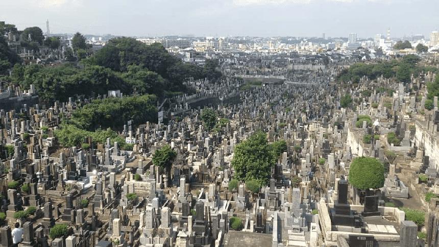 久保山墓地の墓域