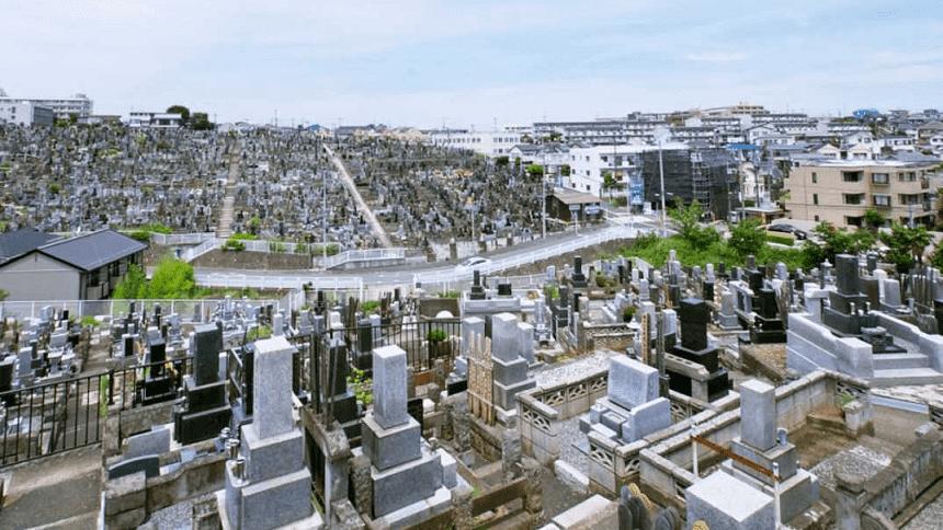 三ツ沢墓地の墓域