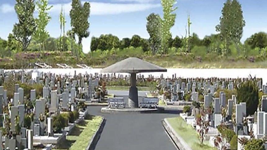 神戸市立鵯越墓園の墓域