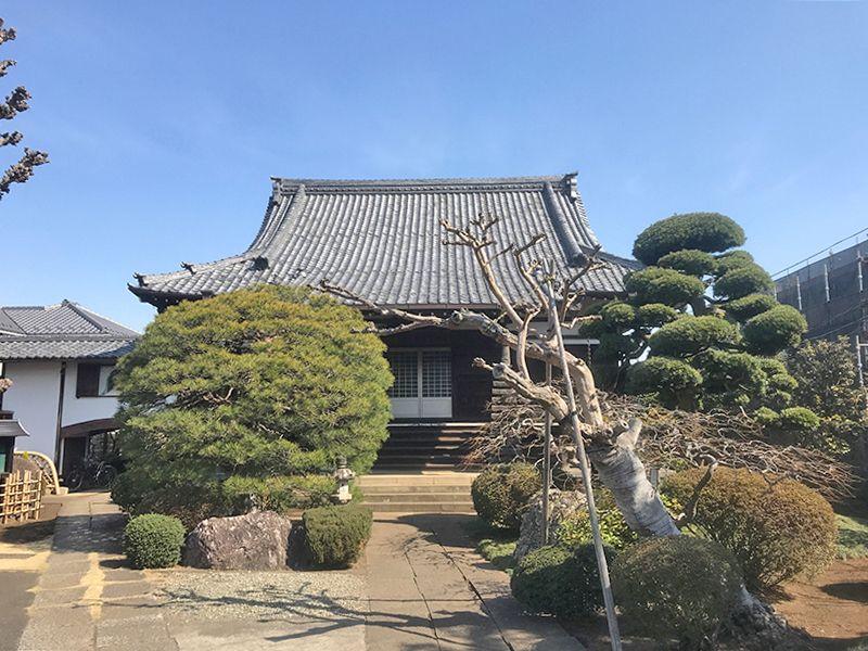 烏山中央浄苑 整えられた庭園と本堂