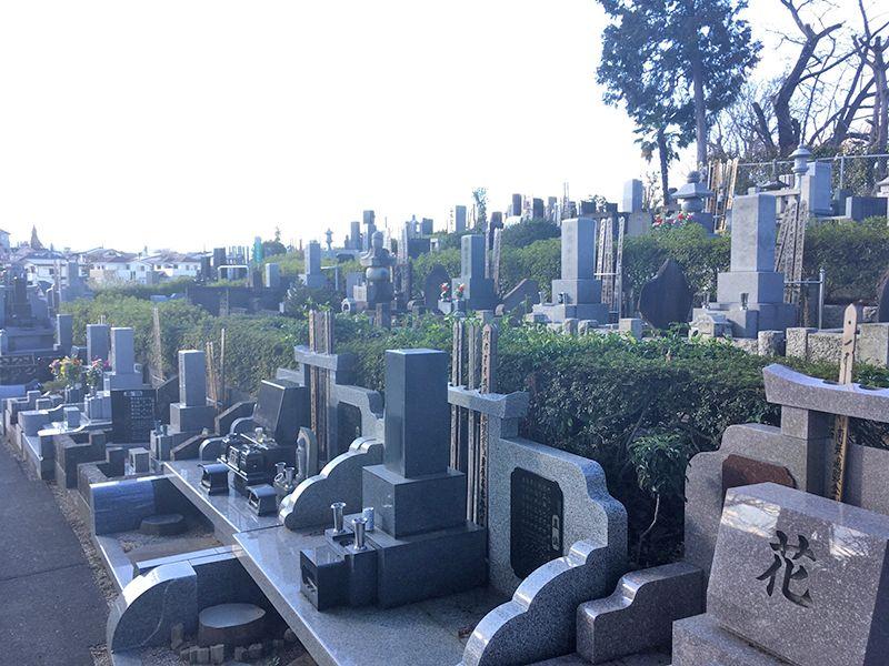 メモリアルパーク吉祥天 見晴らしがよい墓域