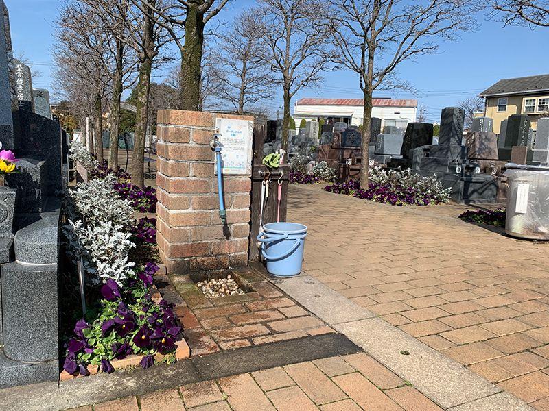 小平メモリアルガーデン ガーデニング型樹木葬「フラワージュ」 水場を完備